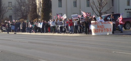 BNHR members march in Las Cruces, New Mexico, on Martin Luther King Day, 2012. Las Cruces is about 30 minutes away from Anthony.