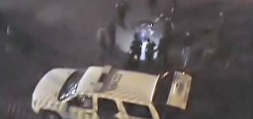Video released in April 2012 shows Anastasio Hernandez Rojas surrounded by Border Patrol agents who beat and tazed him. One of the agents is shining his flashlight on Rojas, who is on the ground.